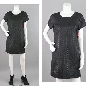 Xhilaration Black Holiday Shift Dress Large NWT